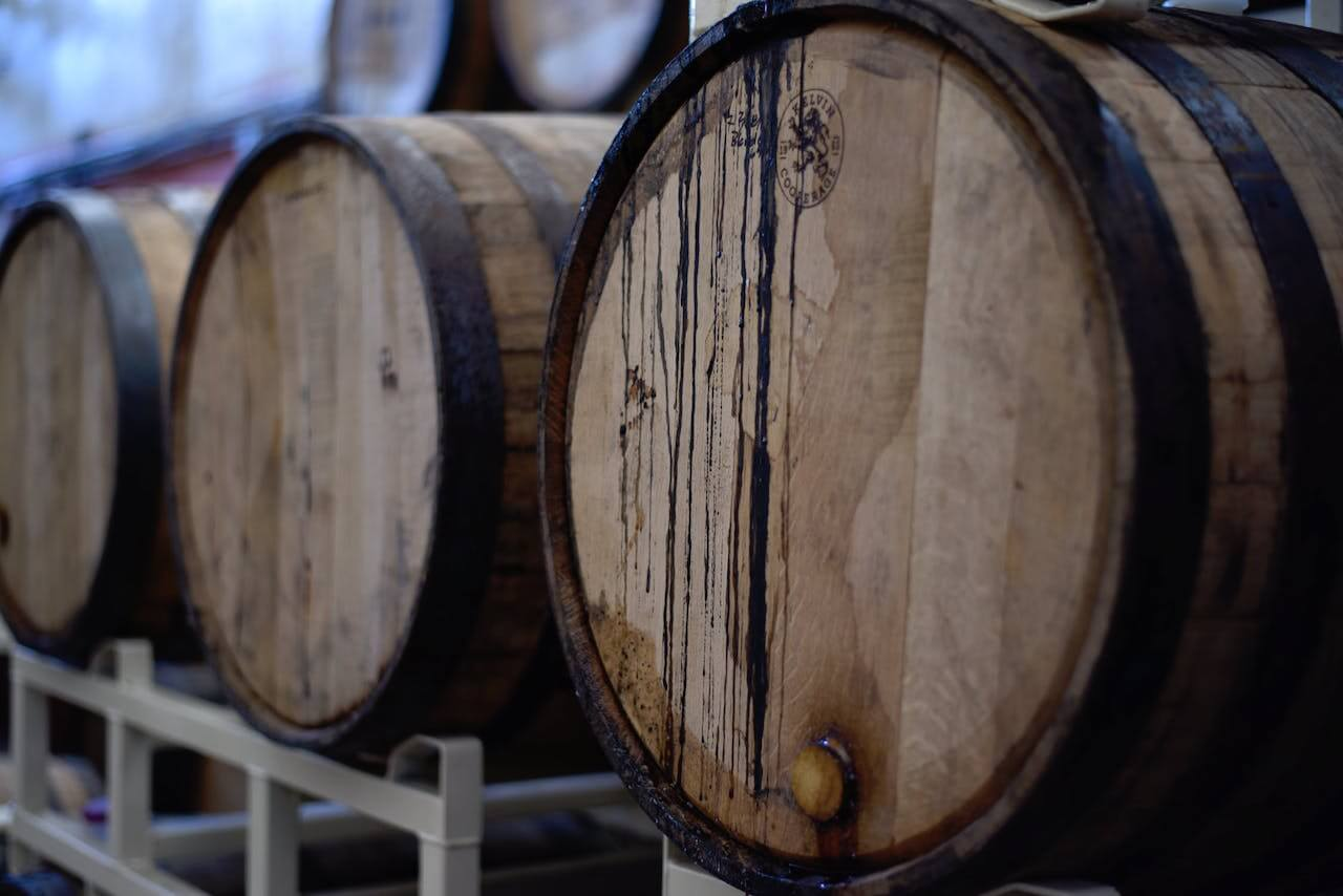 Ekfat på en vingård